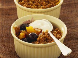 Mango and Berry Crumble recipe