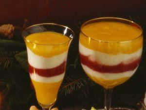 Mango Yogurt Raspberry Cup recipe