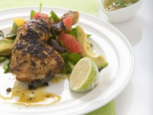 Margarita Chicken, Grapefruit and Avocado Salad and Tequila Dressing recipe