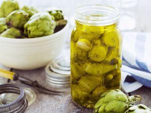 Marinated Artichokes with Garlic recipe