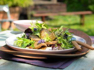 Marinated Beef with Salad recipe