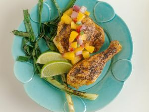 Marinated Chicken with Fruity Salsa recipe