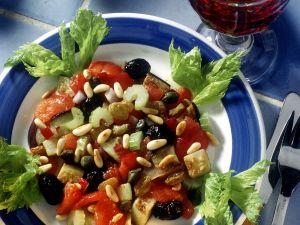 Marinated Eggplant and Vegetables recipe