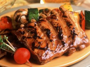 Marinated Grilled Pork Ribs and Vegetables recipe