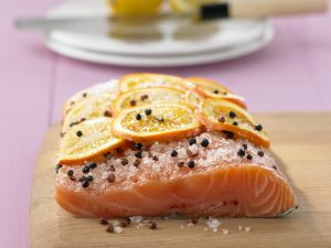Marinated Salmon with Orange and Sichuan Peppercorns recipe