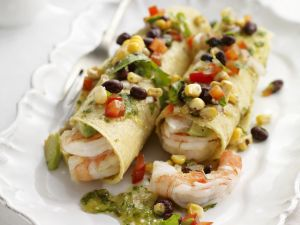 Marinated Shrimp Tacos with Corn and Salsa recipe