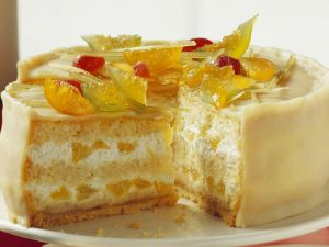 Marzipan Cake with Oranges recipe
