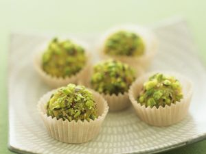 Marzipan Chocolates with Pistachios recipe