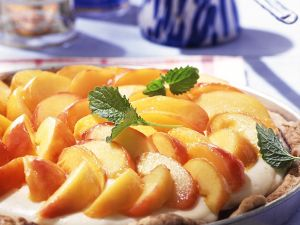 Mascarpone Peach Tart recipe