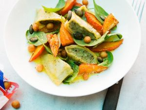 Maultasche Salad with Pumpkin and Orange Vinaigrette recipe