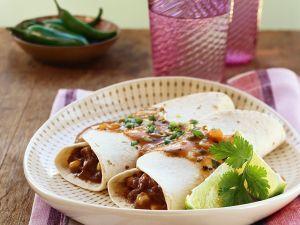 Meat and Bean Burritos recipe