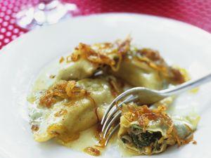 Meat Ravioli with Onions recipe