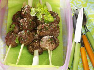 Meatballs on Lemongrass Skewers recipe