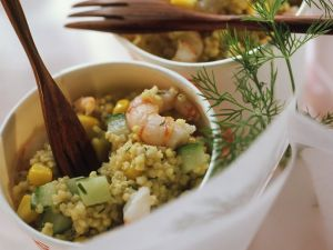 Millet Salad with Shrimp recipe