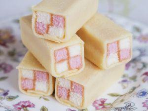 Mini Battenburg Checkerboard Cakes recipe