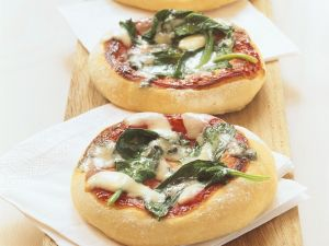 Mini Spinach Pizzas recipe