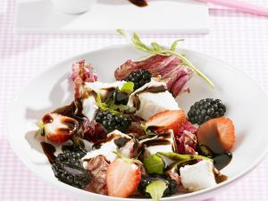 Salad with Goat Cheese, Mixed Berries and Balsamic Dressing recipe