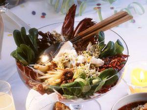 Mixed Green Salad with Feta Cheese recipe