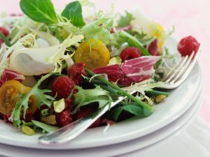 Mixed Greens with Raspberry Vinaigrette recipe