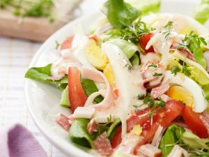 Mixed Salad with Egg and Yogurt Dressing recipe