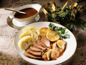 Muscovy Duck with Semolina Cakes recipe