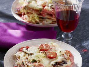 Mushroom and Cherry Tomato Lasagne recipe