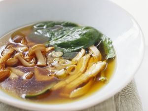 Mushroom and Spinach Soup recipe