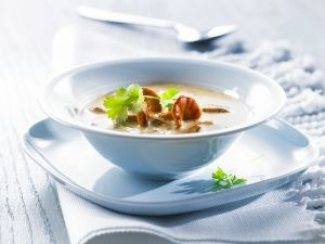 Mushroom Bisque with Herbs recipe