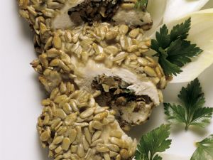 Mushroom-Stuffed Chicken Breast with Sesame Seeds recipe