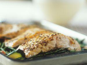 Mustardy Baked Salmon Fillets recipe