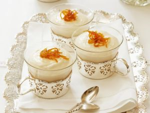 Cheesecake with Baileys and Candied Orange Zest recipe