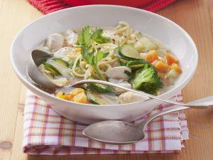 Noodle and Broccoli Soup recipe