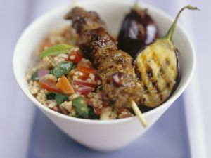 North African Skewers with Grain Salad recipe