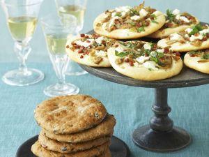 Olive and Tomato Flatbreads recipe