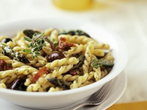 Olive and Tomato Pasta Bowl recipe