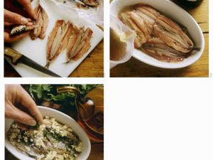 Olive Oil Marinated Fresh Anchovies recipe