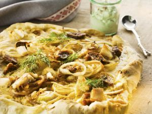 Onion and Fig Pizza Flatbread recipe