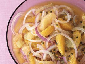 Onion and Orange Salad with Passion Fruit recipe