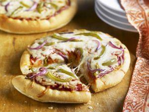 Onion and Pepper Mini Pizzas recipe