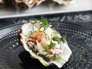 Oysters with Crab Salad recipe