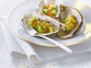 Oysters with Keta Caviar recipe