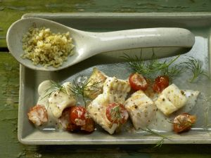 Pan-Fried Perch and Tomatoes recipe