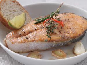 Pan-Roasted Salmon Steaks recipe
