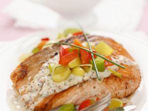 Pan-Seared Salmon with Mustard Sauce recipe
