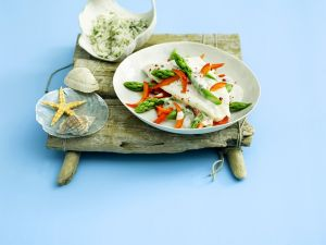 Pangasius with Vegetables and Horseradish Sauce recipe