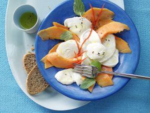 Papaya and Mozzarella Carpaccio recipe