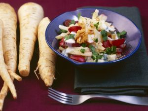 Parsnip and Apple Salad with Creamy Vinaigrette recipe