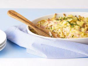 Pasta and Pork Gratin recipe