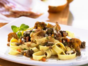 Pasta with Beef and Mushroom Ragout recipe