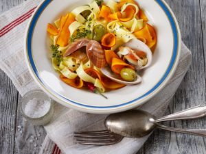 Pasta with Clams and Pumpkin recipe